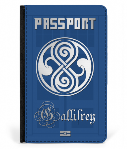 Gallifrey Faux Leather Passport Cover Inspired by Doctor Who Tardis
